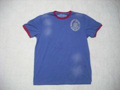 72 男 ラルフローレン 青 半袖Tシャツ M