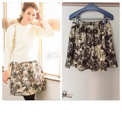 美品chesty Jacquard Print Skirt