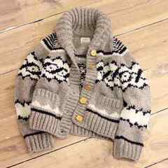 TODAYFUL Cowichan Knit �J�E�`���j�b�g ungrid