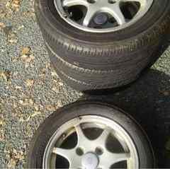 カプチーノの純正ホイールとタイヤのセット