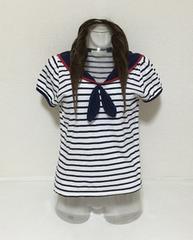 ボーダーマリン☆セーラーTシャツ F