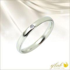 19号誕生石鏡面仕上ルシエルミラー指輪ステンレスリング