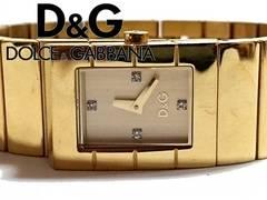 良品 1スタ★ドルチェ&ガッバーナ/D&G ジルコニア腕時計★