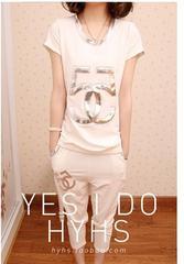 ★人気★NEW★5シルバーTシャツ7分丈上下★ホワイト