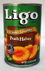 Ligo Peach Halves 黄桃 シロップ漬け 桃 432g O30M-7