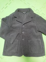 コムサイズムフリースジャケット100サイズグレー