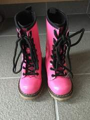 キッズブーツ ピンク