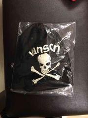 VANSON バンソン 新品 ニット帽 スカル ロゴ