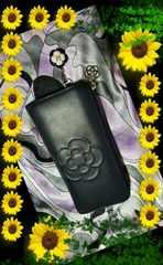 ◆クレイサス  カメリアチャーム付長財布◆