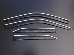 ビス付き♪メッキライン入リ ドアバイザー BMW E36
