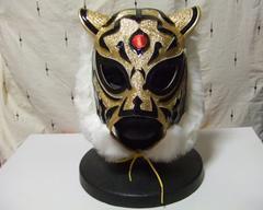 初代タイガーマスク 試合用マスク 豊嶋製 逆ヤギリ サイン入り