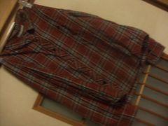 ローリーズファーム*赤チェックシャツM*クリックポスト164円