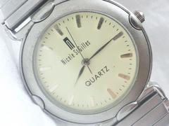 2559復活祭★Nicolestgilles☆お洒落なアイボリーダイヤルメンズ腕時計