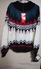 新品 素敵なセーターM 黒系