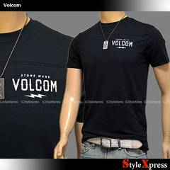 ボルコム Volcom■黒XL■胸ロゴ Tシャツ 裾ロゴ メンズ サーフ系