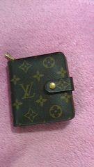 ◆ルイ・ヴィトンLOUIS VUITTONコンパクトジップ二つ折り財布モノグラム正規品◆