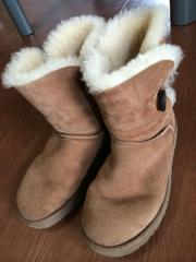 UGG W BAILEY BUTTONボタン ムートンブーツ 25