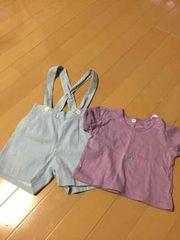 Tシャツ☆サスペンダー付きパンツ(未使用)☆2点セット☆送料込み