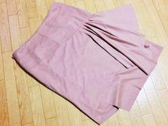 インタープラネット/INTER PLANET スエード膝丈フレアスカート