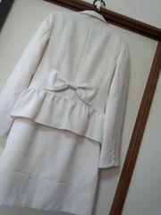 美品大きいサイズキュートリボンワンピスーツ卒業・入学・結婚式