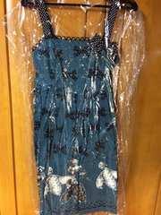 Emily エミリーテンプルキュート プードル リボン ワンピース 紺