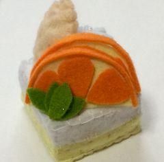 フェルト製 オレンジケーキ