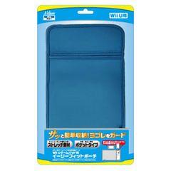 即決Wii Uゲームパッド用イージーフィットポーチブルーSASP-0213