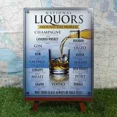 ★新品★【ブリキ看板】Liquors/リキュール 世界のお酒