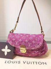 1円 ◆正規品◆ 美品 ◆ ルイヴィトン デニム ショルダー バッグ