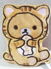 リラックマダイカット薄型がま口パース(ポーチ)☆のんびりネコリラックマ