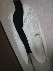 3L☆オフホワイト網パーカー☆美品♪1度使用のみ