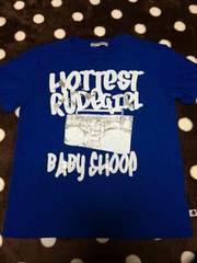 USED☆BABY SHOOP.バクプリTシャツ.M.青/送205