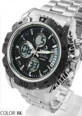 NEW★アナログ&デジタル・ビッグフェイス腕時計FSMB1BK
