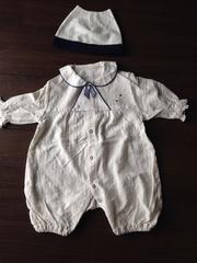 新生児50〜70お宮参り フォーマル 退院時にもangel帽子付き