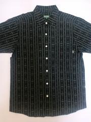 DELUXE 総柄半袖シャツ デラックス DLX 刺繍 HUE 黒 M