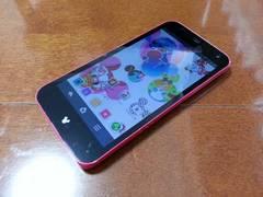 即落/即発!!美中古品 F-03F Disney Mobile ピンク