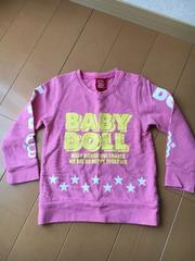 ベビードール★薄手トレーナー★美品★ピンク★(90)