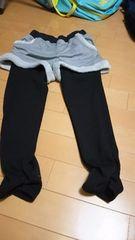 レギンス付き半ズボン。裏側暖かい素材です