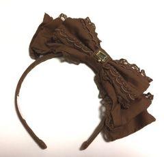 Melty Chocolate カチューシャ ブラウン AngelicPretty
