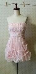 新品同様ピンクのチューブトップドレス