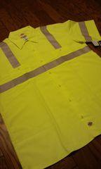 Dickiesディッキーズ レスキューワークシャツ 蛍光イエローグレー サイズ2XLXXL 新品