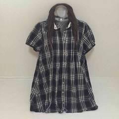 #大きいサイズチェックシャツ☆チュニック丈☆4L