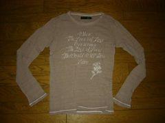 roarロアーダメージ加工カットソー2メッセージロンTシャツ