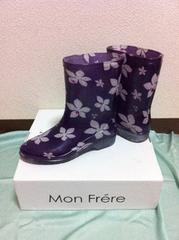 紫    レインブーツ    M