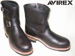 AVIREXアビレックス新品ショート エンジニア ブーツ2225黒us9.5