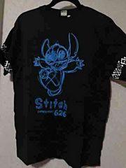 Tシャツ ブラック Lサイズ スティッチ 黒