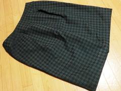 新品コムサイズムCOMME CA ISM千鳥柄膝丈スカート黒