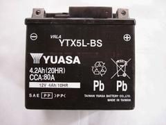 ���o�C�N�o�b�e���[ ���A�T YUASA YTX5L-BS BW's �r�[�m �V�i