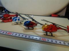 ヘリコプター4機まとめて。