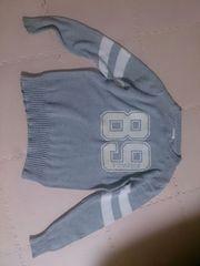 140 G.U グレーのセーター 訳あり